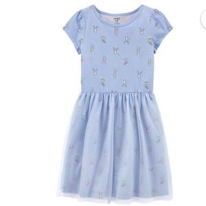 Carter's Girl Periwinkle Blue Bunny Tulle Dress 14